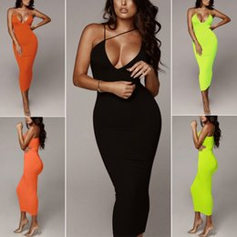 Women's Evening Party Cocktail Sexy Sleeveless Bandage Bodycon Club Long Dress on Sale