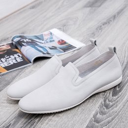 $enCountryForm.capitalKeyWord Australia - Bottom White Small Soft Enchanting2019 Trend Business Affairs Leisure Time Correct Dress Really Leather Shoes Cowhide Set Foot