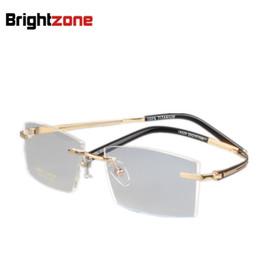 529f7b4fcd9e Brightzone New Titanium Man Rimless Spectacles Frames Glasses Brand  Eyeglasses Men Optical Prescription Oculos De Grau(China)