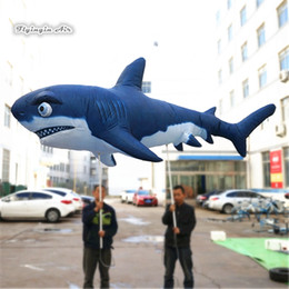 Wholesale shark puppet resale online - Outdoor Giant Walking Inflatable Shark Puppet m Blow Up Deep Sea Shark Costume For Parade Event Decoration