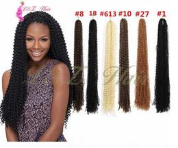 "$enCountryForm.capitalKeyWord Australia - Synethtic Hair For Braid 24"" Cro-knot Micro zizi hair extensions Bohemian style Pure color Freetress Crochet Braid"