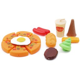 Kitchen Sets For Children UK - Creative Pizza Set Toys Fake Pizza Cooking Pretend Play Kitchen Toys For Children Fun Games Simulation s Model