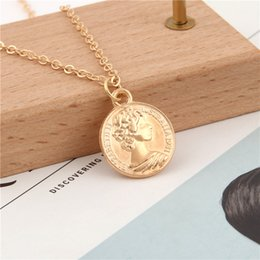 euro coins Australia - 1Pc Exquisite Round Coin Elizabeth II Necklaces Euro 10 Cent Shaped Pendant Mujer Collar Women Girl Jewelry Accessories E2557