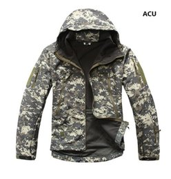 lurker shark skin tactical jacket 2019 - 2019 Lurker Shark Skin Softshell V4 Tactical Jacket Men Waterproof Windproof Warm Coat Camouflage Hooded Camo Army Cloth