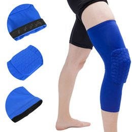 $enCountryForm.capitalKeyWord NZ - Protective Gear Basketball Knee Pads Compression Sleeve Honeycomb Foam Brace Kneepad Fitness Volleyball Support Compression Knee Pad M2Y