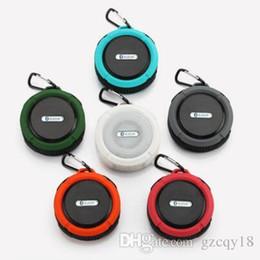 Ipx7 Speakers Australia - Speaker Bluetooth Speaker Wireless Mini Potable Audio Player Waterproof Speaker Hook and Suction Cup Stereo Music Player C6 Outdoor IPX7