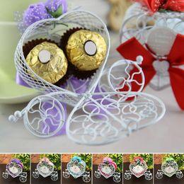 $enCountryForm.capitalKeyWord Australia - 6 Colors Romantic Pumpkin Iron Wagon Design Sweet Candy Box Cinderella Carriage Candy Chocolate Box Birthday Wedding Party Decor