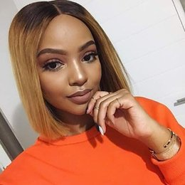 $enCountryForm.capitalKeyWord Australia - Peruvian Straight Human Hair Wig 8inch Bob Short Lace Front Human Hair Wig for Black