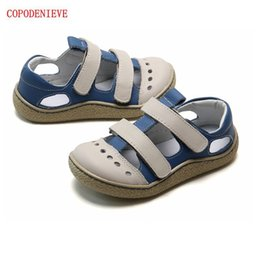 cool girls sandals NZ - COPODENIEVE Fashion Sandals Soft Breathable Cool Comfortable Kids Children Male Leather Casual kids sandals little girl shoes CX200704
