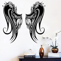 wings art Australia - Angel's Wings wall sticker home decor for living room bedroom decoration accessories vinyl wall art