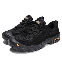 Camp Shoes For Men Australia - Large size Outdoor Sports Camping shoes for Men Tactical Hiking Upstream Shoes For Summer Breathable Waterproof Coating