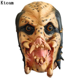 realistic scary costumes Australia - Helmet Movie Mask Halloween Costume Party Horror Monster Scary Masks Cosplay Fancy Dress Realistic Latex Props Suppiles