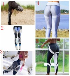 Girls denim tiGhts online shopping - 5 styles Yoga pants fitness legging sports elastic breathable women tights running slim lady pants top quality