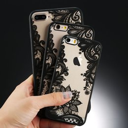 lace iphone 5s cases UK - USLION Sexy Floral Phone Case For Apple iPhone 7 8 6 6s 5 5s SE Plus Lace Flower Hard PC Cases Back Cover For iPhone X XR XS Max