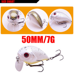 Topwater Lure Bass Fishing Australia - 1pcs Mini Crank Fishing Lure 5cm 7g Chubby Spinner Topwater Bait Crankbait 3d Eyes Hard Baits Bass Water Minnows Fishing Tackle
