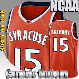 bird lanterns UK - Carmelo jerseys Anthony Syracuse college basketball jersey larry 33 bird james jersey harden lebron wade vince bird carter grant thomas hill