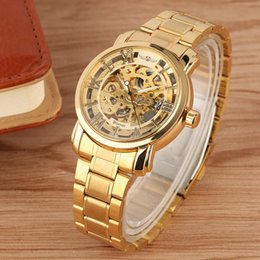 $enCountryForm.capitalKeyWord Australia - WINNER Watch Man Automatic Mechanical Watch Men's Luxury Gold Hollow Skeleton Full Stainless Steel Business Sport Wrist Watches
