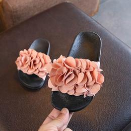 Girls Sandal Australia - Fashion Summer floral Girls Slippers children shoes girls shoes Chaussures pour enfants kids designer shoes Girls Beach Sandals