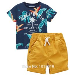 Wholesale Baby Boys Clothes Sets Kids Brand New Quality Cotton Summer Children Suits Bebe Short Sleeve t shirt Pant Boys