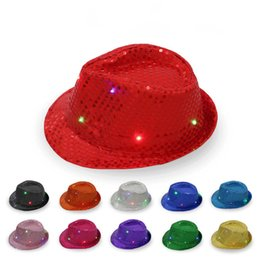 $enCountryForm.capitalKeyWord Australia - 2019 Luminous Jazz Hat, Colorful Flash Adult Children's Stage Performing Sequins, Individualized Breath Ball best Party hat