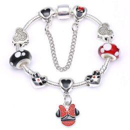272ed48e68 16-21CM DIY Luxury designer jewelry women girl bracelets charm pandoa  bracelet for kids gift charms bead Accessories with box