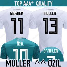 a00318bcaf016 camiseta de fútbol WERNER camiseta del mundial de fútbol 2018 MULLER OZIL  ALEMANIA GOTZE REUS KROOS Camiseta SANE GORETZKA pie de supervivencia