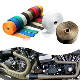$enCountryForm.capitalKeyWord Australia - Universal Motorcycle Exhaust Pipe Thermal Insulation Warp Modified Insulation Tape Plantain Clothes High Temperature Cloth HHA83