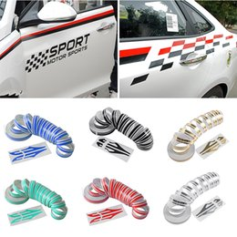 White Sticker Film Australia - 12mm PinStripe Pin Stripe Tape Decal Vinyl Car Stickers Steamline White Gold Silver Double Line Motorcycle Car Styling Accessory