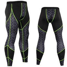 skinny trousers NZ - Men Compression Quick dry Tights Leggings Skinny Pants Gyms Fitness Bodybuilding Trousers Male elasticity MMA Sportswear Bottoms