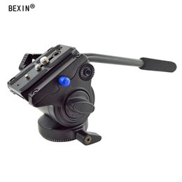 Manfrotto tripods online shopping - BEXIN VH Tripod Head Handgrip Video Photography Fluid Drag Hydraulic Head with Manfrotto plate for Camera Tripod
