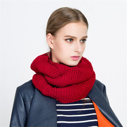 $enCountryForm.capitalKeyWord NZ - Fashionable simple ladies street style monochrome wool neck, winter women back and forth folding warm scarf, charm dress, wholesale