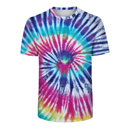 9d8c3e03172308 Wholesale tie dye shirts online shopping - Trend Tie Dyed T shirt Fashion  Loose Streetwear Hip