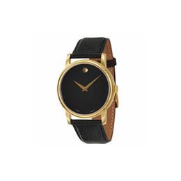 $enCountryForm.capitalKeyWord UK - 2019 New Couple Wristwatch 2100005 2100006 Black Leather with Gold Mens Womens Watch Quartz Wrist watch Black Dail