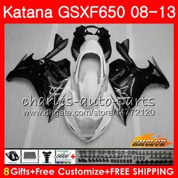 $enCountryForm.capitalKeyWord Australia - Kit For SUZUKI KATANA GSXF 650 GSX650F 08 09 10 11 12 13 14 18HC.5 GSXF-650 GSXF650 black white 2008 2009 2010 2011 2012 2013 2014 Fairing