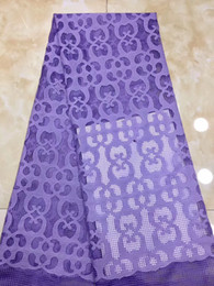 $enCountryForm.capitalKeyWord NZ - EPY1245 Free shipping Nigeria design 5 yards Wholesale price African party dress cotton lace fabric in purple color