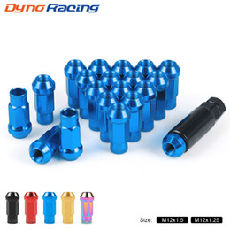 20pcs M12X1.25 47mm Iron Tuner Racing Wheel Lug Nuts Open End Gold
