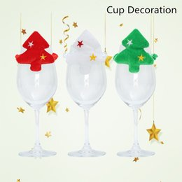 wine glasses for christmas Australia - 50pcs Christmas Cup Decoration For Table Cup Cute Santa Supplies Christmas Decoration For Xmas Table Cup Wine Glass 40% off