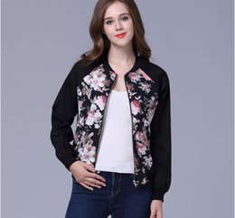 Cross-border European and American women s autumn and winter coats Ebay  Amazon wish hot European and American print zipper baseball e925b2d691f8