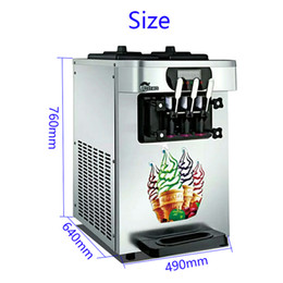 $enCountryForm.capitalKeyWord Australia - Stainless steel 1700W commercial soft ice cream machine automatic ice cream machine intelligent soft ice cream free transport