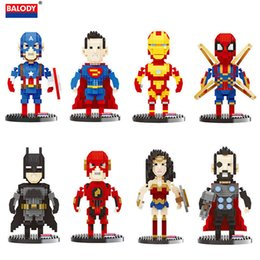 $enCountryForm.capitalKeyWord UK - The Avengers Superhero Toy Figure Super Hero Thor Iron Man Captain America Spiderman The Flash Figure Building Block Bricks Toy For Kids