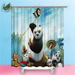 $enCountryForm.capitalKeyWord Australia - Vixm Waterproof Bathroom Curtains Modern Kung Fu Panda Shower Curtain polyester Bath screens Customized curtain