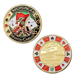 $enCountryForm.capitalKeyWord Australia - GLSY Hot Selling Monaco Good Luck Chips Commemorative Coin Gold Plated Souvenir Art Collection Free shipping