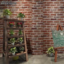 Cafe wallpaper online shopping - beibehang High end Retro Nostalgic Stereo Facing Brick Wall paper Bar Cafe Hotel Living Room Red Brick Wallpaper Papel de Parede