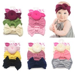 hair bows balls 2021 - Baby Girls Knot Ball Donut Headbands Bow Turban Infant Elastic Hairbands Children Headwear kids Hair Accessories 3pcs set 0602064