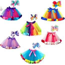 $enCountryForm.capitalKeyWord Australia - new baby skirts set for girl tutu skirt fashion with big bow kid colorful clothing