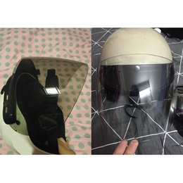 $enCountryForm.capitalKeyWord Australia - Universal 3 Snap Flip Up Visor Shield Lens for Retro Open Face Motorcycle Helmet Motorcycle protective equipment