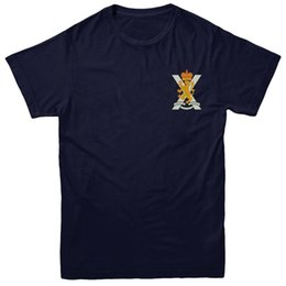 british tees Australia - Royal Regiment of Scotland T-shirt, British Army Inspired Embroidered Tee Top