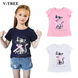 Children White Tees Australia - Summer Girls T Shirt Cartoon T-shirt For Girl Diamond Kids Tops 2-8t Children Sweatshirts Baby Tees Outerwear Y19051003