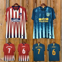 348dfe580b6 Women s football jerseys online shopping - custom Madrid Atletico Soccer  Jersey GRIEZMANN Correa Lucas Costa