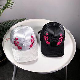 $enCountryForm.capitalKeyWord Australia - New Rose Letter Embroidery Dad Hat Flower Summer Embroidery Curved Summer Snapback Baseball Caps Women Men Trapback Hip Hop Hat